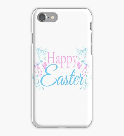 Happy Easter Flowers Design iPhone Case/Skin