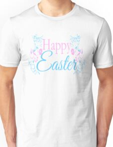 Happy Easter Flowers Design Unisex T-Shirt
