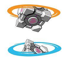 Companion Cube Portal by AvatarSkyBison