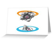 Companion Cube Portal Greeting Card