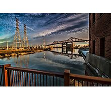 Industrial River scene in Chicago Photographic Print