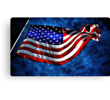 """Stars and Stripes"" Canvas Print"