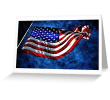 """Stars and Stripes"" Greeting Card"