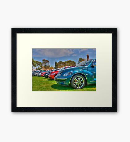 PT Cruiser Rainbow Framed Print