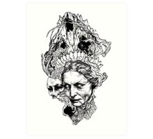 Old witch Art Print