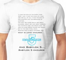 Babylon 5 Endures! (light background) Unisex T-Shirt