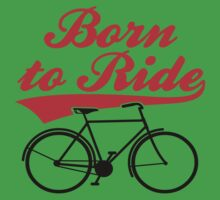 Born To Ride Bike Design Kids Tee