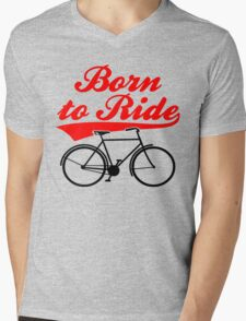 Born To Ride Bike Design Mens V-Neck T-Shirt