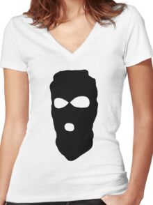 Criminal Concept | Three Women's Fitted V-Neck T-Shirt