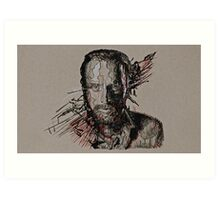 Rick Grimes The Walking Dead Art Print