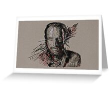 Rick Grimes The Walking Dead Greeting Card