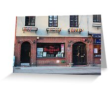 Stonewall Inn. Greenwich Village. Greeting Card
