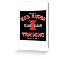 Red Room Training- White & Red (vari. 2) Greeting Card