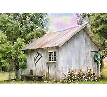 The Flowering Shed Photographic Print