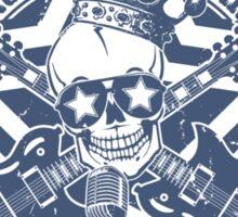 Rock Star Guitars & Skull Sticker