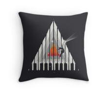 Cosmic Piano Throw Pillow