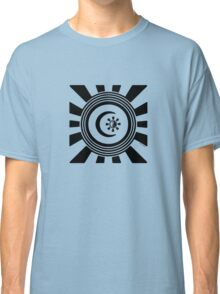 Mandala 34 Version 2 Yin-Yang Back In Black Classic T-Shirt