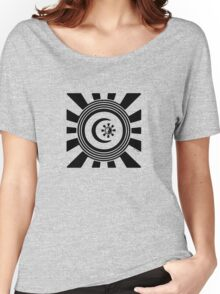Mandala 34 Version 2 Yin-Yang Back In Black Women's Relaxed Fit T-Shirt