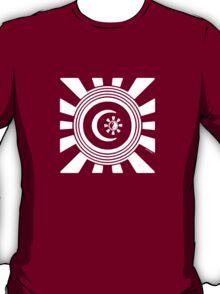 Mandala 34 Version 2 Yin-Yang Simply White  T-Shirt