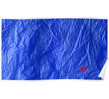 Creased Paper Blue Poster