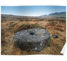 Dartmoor: Abandoned Millstone on Belstone Poster