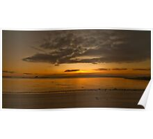 Sunrise beach Poster