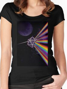 Pink Floyd Dark Side of the Moon Dungeons & Dragons Women's Fitted Scoop T-Shirt