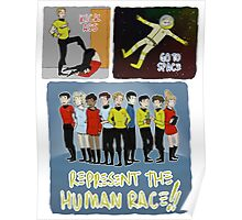 kick ass go to space represent the human race Poster