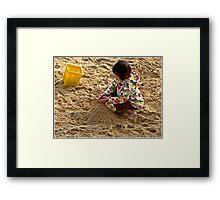 """ Making Sandcastles"" Framed Print"