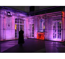 Berlin night scene - Sony center, purple lighting Photographic Print