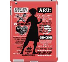 Gintama - Kagura Quotes iPad Case/Skin