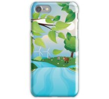Hills and River iPhone Case/Skin