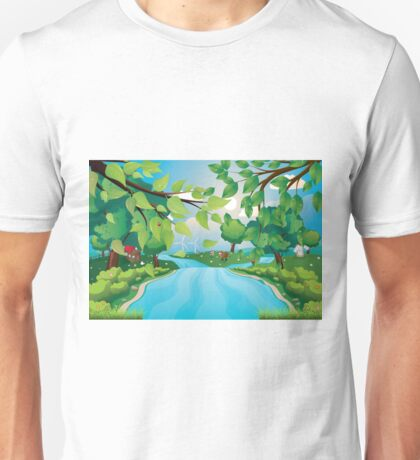 Hills and River Unisex T-Shirt