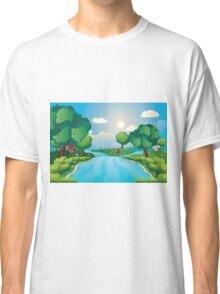 Hills and River 2 Classic T-Shirt