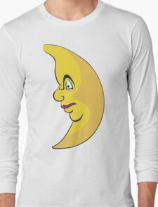 Serious looking moon  Long Sleeve T-Shirt