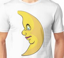Serious looking moon  Unisex T-Shirt