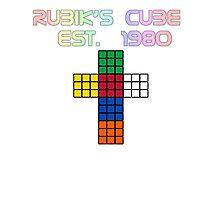 Rubik's Cube Est. 1980 Photographic Print