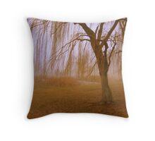 Winter Willows Throw Pillow