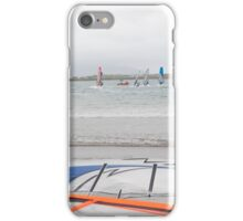 wind surfers racing in the gales iPhone Case/Skin