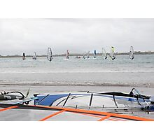 wind surfers racing in the gales Photographic Print