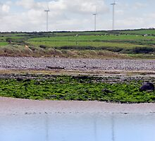 windmill reflections on beal beach by morrbyte