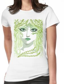 Spring girl face Womens Fitted T-Shirt