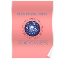 Destination Earth chevron symbols pink Poster