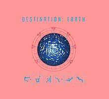 Destination Earth chevron symbols pink by Vinchenko