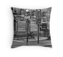 Metro Stop Throw Pillow