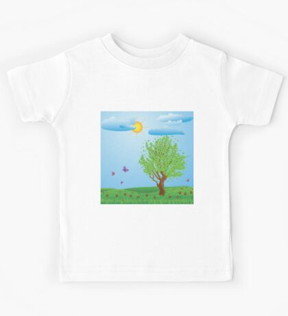 Tree on meadow Kids Tee