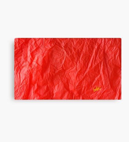 Creased Paper Red Canvas Print