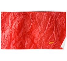 Creased Paper Red Poster