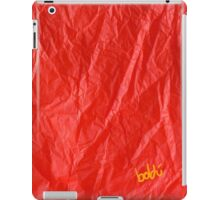 Creased Paper Red iPad Case/Skin