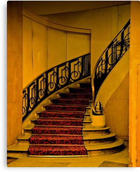 DECO STAIRCASE IN HOTEL PARIS by Thomas Barker-Detwiler